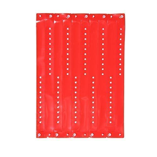 ClubKing Ltd Armbänder, aus Vinyl, Rot, 50 Stück