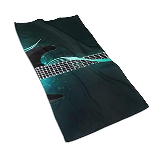 WH-CLA Toalla De Piscina Rock Guitar Light Sábana De Baño Reutilizable Toalla De Piscina Toalla De Playa Moda 80X130 Cm Secado Rápido Duradero Premium Unisex Personalizado Adulto Acogedor