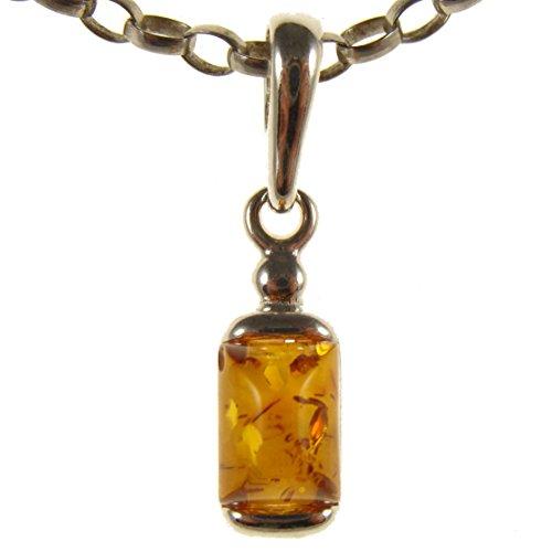 Colgante de plata de ley 925 con ambar del Baltico joyeria (sin cadena)