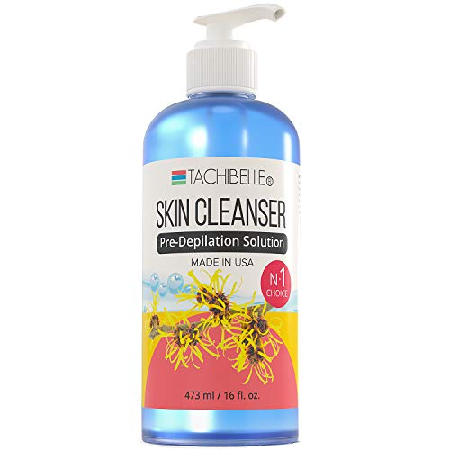 Tachibelle Skin Cleanser Pre-Depilation Solution for Hair Waxing Formulated with Hazel for its nourishing, healing and soothing properties Made in USA 16 oz