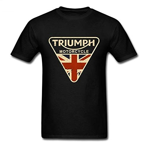 Craked Union Jack Triumph Motorcycle Shirt UK Flag Clothing Men T Shirt Men's Vintage Tee Tops Gifts for Valentines Day