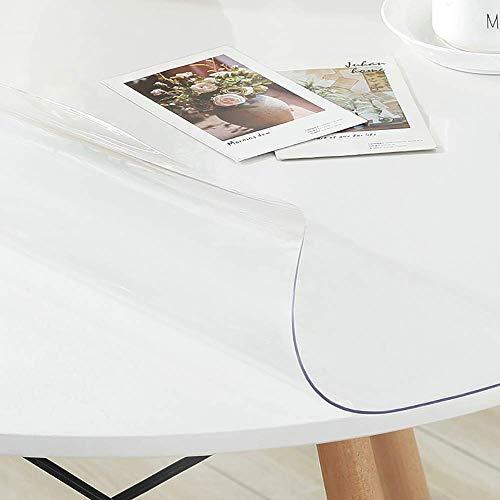 KMMK Haupttischläufer, Hotel-Restaurant-Tischdecken, transparente Tischdecke des weichen Glases wasserdichter ölbeständiger Kaffeefleck einfach, Tischset zu säubern,Dicke-1,5 mm,80 cm