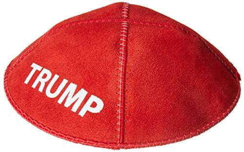 A1 Skullcap Trump Kippah – MAGA jüdischer Yarmulke Hut – Juden für Trump – Yarmulkes für Herren – Potus Flotus Rot Wildleder Kippa Cap – Herren Juden Yamaka/Yamika/Yamaka