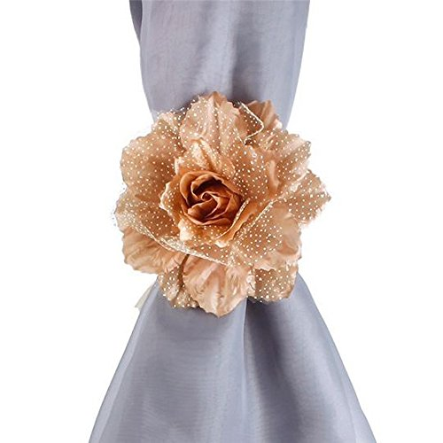 Home Decor Accessories Onsales, 2Pcs Best Peony Flower Curtain Clip-on Tie Backs Holdback Tieback Holder Panel, Color E, Kitchen Bathroom Bar Easter Decorations Gifts Clearances