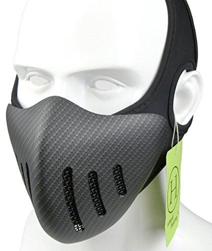 H World EU Airsoft Tactical Half Face Malla metálica Transpirable Máscara Protectora Fibra de Carbono