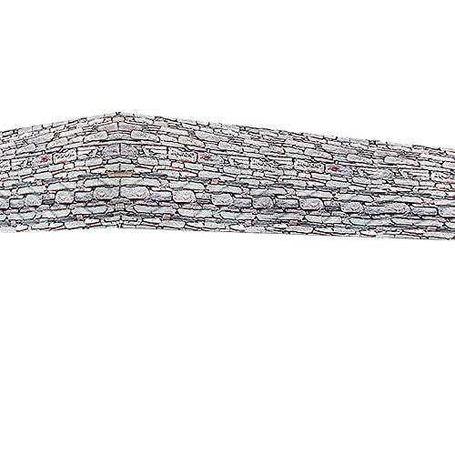 Deuba Windschutz 5m UV-Schutz 50+ wasserabweisend Sichtschutz Balkonbespannung Balkonsichtschutz 500 x 90 cm Stein Mauer