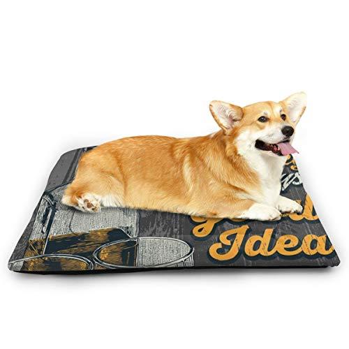 Niet van toepassing Whiskey is een goed idee huisdier kat en hond Pad waterdichte huisdier matras absorberende handdoek tapijt, 31