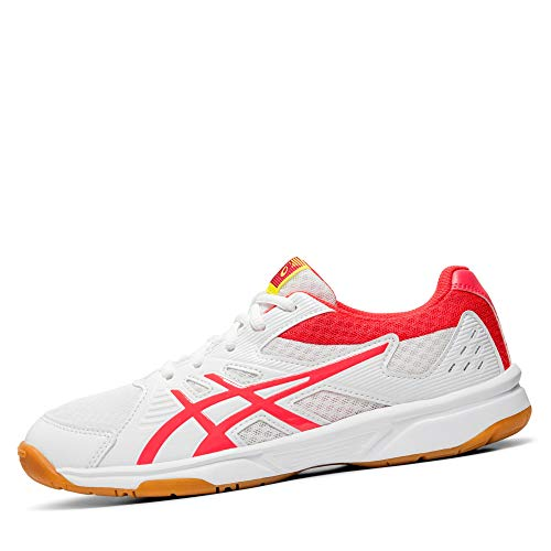 ASICS Damen Upcourt 3 1072A012-104 Volleyball-Schuh, White/Laser Pink, 38 EU