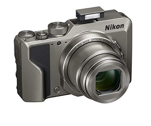 Nikon Coolpix A1000 - Cámara Digital compacta, 16 megapíxeles, Zoom 35X, 4K, Visor electrónico Incorporado, Raw (NRW), Bluetooth, Wi-Fi, Color Plateado
