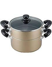 和平フレイズ 蒸し器 二段 蒸し料理 おおらか鍋 20cm もち米2.5合 IH対応 ふっ素樹脂加工 OR-7131