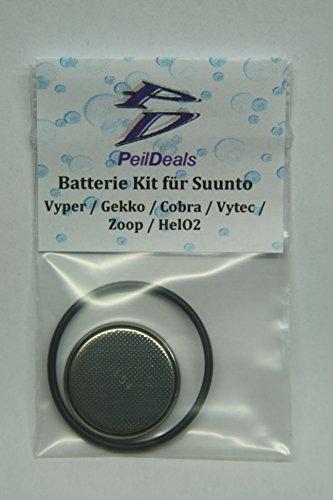 PeilDeals - Kit batterie per SUUNTO Vyper, Gekko, Cobra, Vytec, Zoop, HelO2