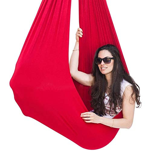CWYP-MS Aerial Yoga Hammock, Indoor & Outdoor Sensory Swing - Large, Soft, Therapy Swing For Kids & Adults With Hardware, Great For Children With Special Needs, Autism, ADHD
