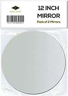 BETTER CRAFTS 12 inch Round Glass Mirror Reflective - Set of 2