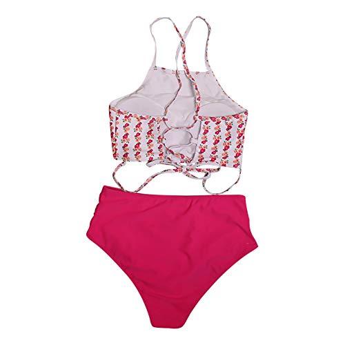 OMNY Donna Costume da Bagno Push Up Imbottito Reggiseno Bikini, Donna Sexy Due Pezzi Swimwear Abiti da Spiaggia,Costume da Bagno Sexy con Schiena Scoperta Bikini Stampato da Donna