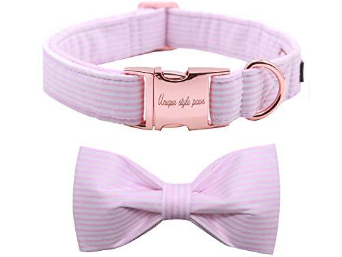 Unique Style Paws Collar para perro con pajarita ajustable o correa para perros y gatos, pequeño, mediano y grande