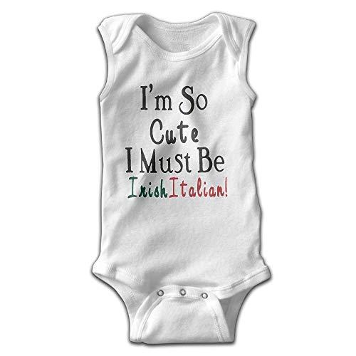 flys HELLOWI Cute Irish Italian Unisex Baby Funny Bodysuit Sleeveless Creeper Clothes