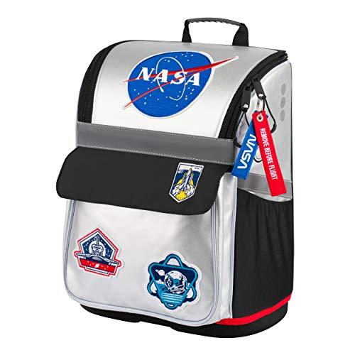 Schulranzen Jungen 1. Klasse - Ergonomische Schultasche für Kinder - Schulrucksack mit Brustgurt - Grundschule Ranzen (NASA)