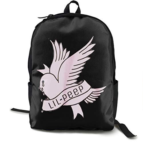 N / A Lil-Peep Rapper Crybaby Bird Paket Klassischer Rucksack Schultasche Schwarze Tasche Arbeitsreise Zur Polyester Unisex Schule