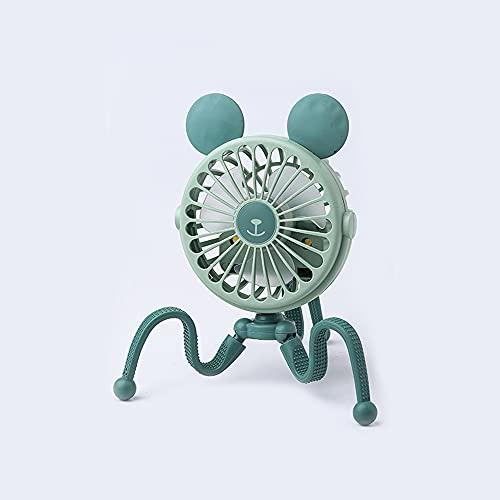 XIUNIA Ventilador Portátil Ventilador Octopus con Trípode Telescópico Ajuste de 3 Velocidades Carga Usb Adecuado para Cochecito/Camping/Asiento de Coche