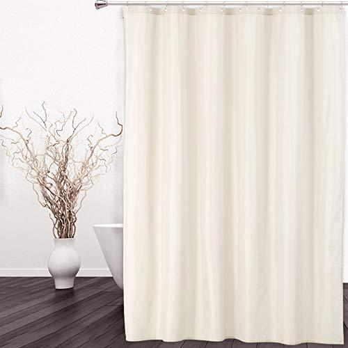 Hotelqualität 100prozent wasserdicht , Duschvorhang oder Liner mit Magneten für Badezimmer ,Elfenbein, 72 x 84 Zoll