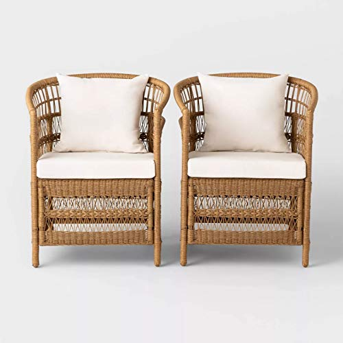 Opalhouse Mulberry 2pk Patio Chair - Natural