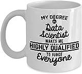 Data Scientist Coffee Mug Researchers Data Analysts Scientists Data Science Mug Data Formula Funny 11 Oz Novelty Tea Cup Men Women Dad Coworke