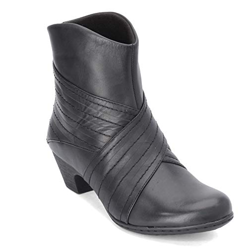 Rockport Women's Faline Rouched Bootie Ankle Boot, Black, 7 W US