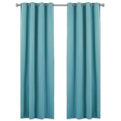 cortinas turquesa habitacion