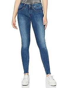 G-STAR RAW Damen Lynn D-Mid Waist Super Skinny Jeans, Blau (medium aged 9136-071), 33W/32L