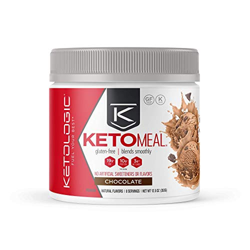 KetoLogic Keto Meal Replacement Shake Powder: Chocolate (8 Servings) – Low Carb, Keto Shake Rich In MCT Oil, Healthy Fats and Whey Protein - Formulated Macros Support Keto Diet & Ketosis