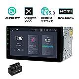 XTRONS カーナビ 2din android10.0 車載PC 7インチ 4GB+64GB 一体型ナビ HDMI出力 カーオーディオ 4G GPS WIFI ミラーリング USB SD Bluetoothテザリング OBD2アダプター付( TQ700L+ OBD02)