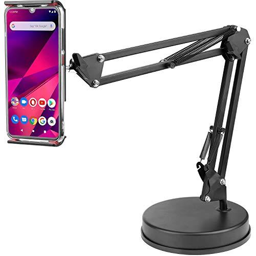 ChromLives - Soporte de soporte para teléfono móvil y vídeo, brazo articulado, soporte de mesa con base ajustable a 360°, soporte de escritorio compatible con teléfonos, tabletas, iPad