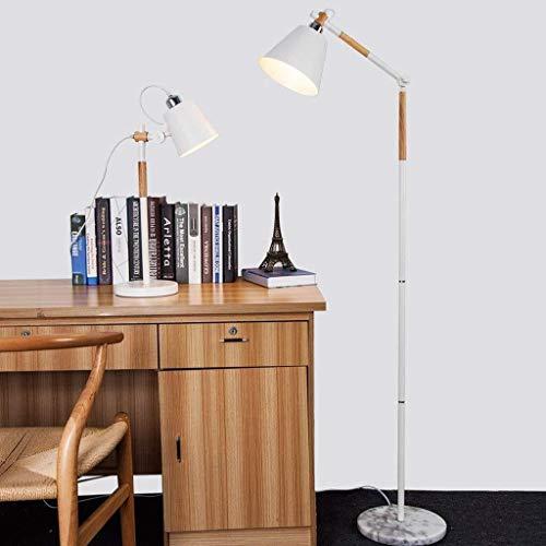 YISUNF Lámpara de pie Lámparas de pie, Led Den Lámpara de piso, madera creativa simple remoto personalidad nórdica Moda Salón Dormitorio de madera lámpara de pie, Eye-El cuidado de luz vertical