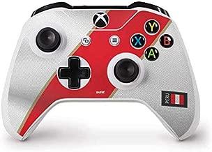 Skinit Decal Gaming Skin for Xbox One S Controller - Originally Designed Peru Soccer Flag Design