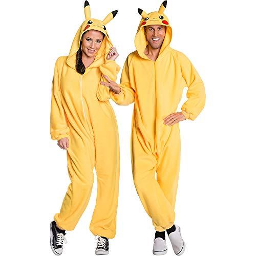 Generique - Pikachu-Overall Pokemon-Kostüm für Erwachsene gelb XL