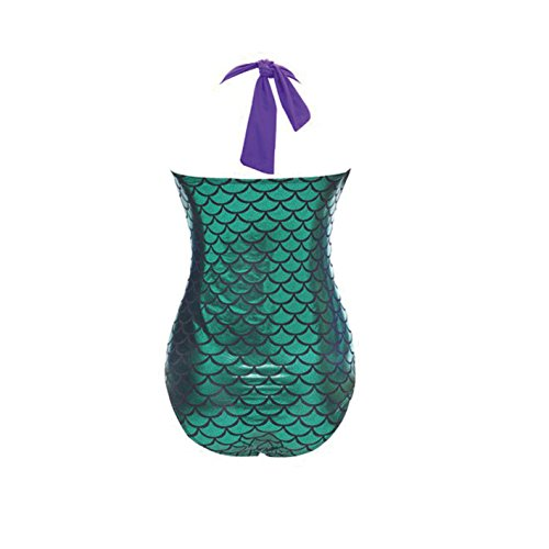 Lora Dew(TM) Women's One Piece Swimsuit Mermaid Bikini Plus Size Padded Monokini