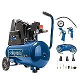 scheppach Kompressor HC25o (1100W, 24 L, 8 bar, Ansaugleistung 200 l/min, Druckminderer, ölfrei) - inkl....