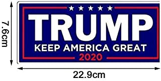 LBZE 10Pcs US General Election Stickers, Trump President Campaign Sticker, Rectangle Bumper Sticker Car Decal Size 7.6x22.9cm (Blue)