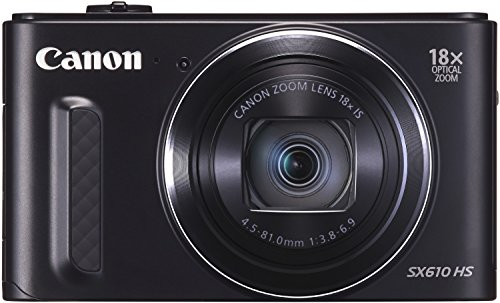 Canon PowerShot SX610 HS Digitalkamera (20,2 MP, 18-fach opt. Zoom, 36-fach ZoomPlus, 7,5cm (3 Zoll) Display, opt. Bildstabilisator, WLAN, NFC) schwarz