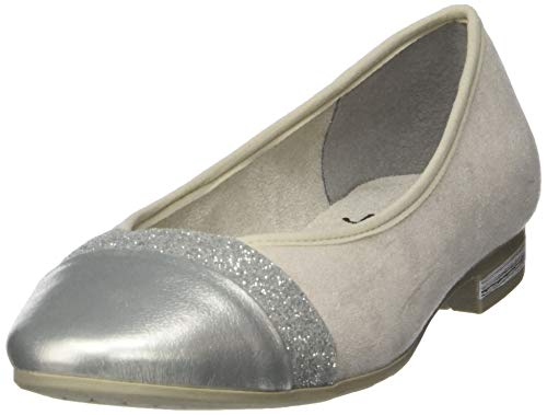 Jana Softline Damen 8-8-22165-24 Geschlossene Ballerinas, Grau (Lt Grey 204), 39 EU