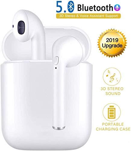 Bluetooth Kopfhörer - Wireless Bluetooth 5.0 Ohrhörer in Ear Tragbarer Sport IPX6 Kabellose Kopfhörer TWS Stereo Headset mit Mini Ladekästchen/Mikrofon für iPhone Samsung Huawei Android