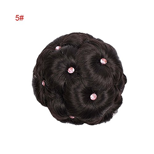 Majome Gefälschte Haarknoten Erweiterungen Clip In Curly Chignons Kunstfaser Hairstyling Perücke...