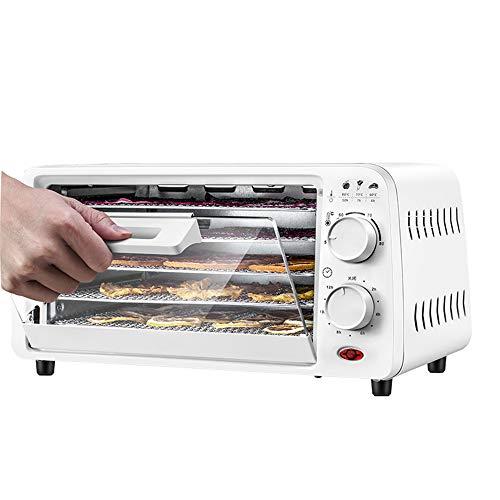 JIN GUI Digital Einstellbarer Timer und temperaturgesteuerter Dörrapparat. 9L Obsttrockner mit großer Kapazität für Kräuterfleisch, Obst und Gemüse