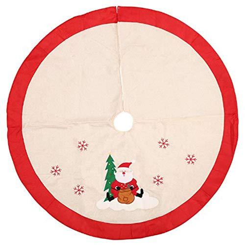 Milopon Weihnachtsbaumdecke Weihnachtsbaum Decke Baumdecke Weihnachts Dekorationen Weihnachtsbaum Abdeckung Runde Christbaumdecke 105cm (Beige)