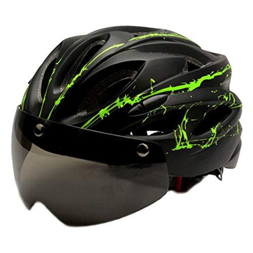 Baosity Casco de Bicicleta para Adultos con Gafas magnéticas Casco de Bicicleta...
