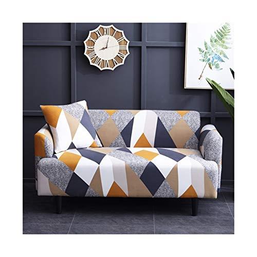 OYZK Cubierta de sofá de Estiramiento, sofá elásticos Cubiertas para Sala de Estar, Sofá Muebles Protector Fundas Sofás con Chaise Longue 1pc (Color : Color 15, Specification : 4 Seater 235 300cm)