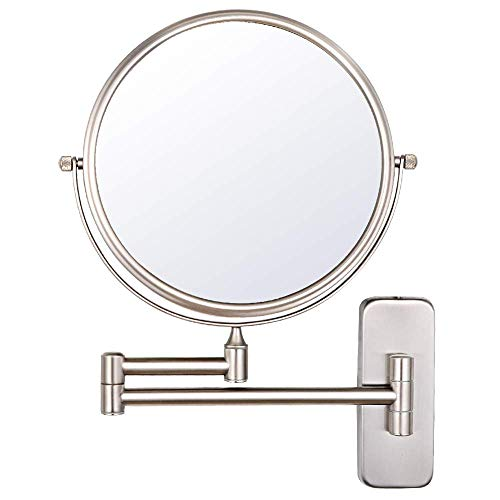 Nicesail Wall Magnifying Mirror Shaving Bathroom Mirror, Double-Sided Folding Mirror with 10x -