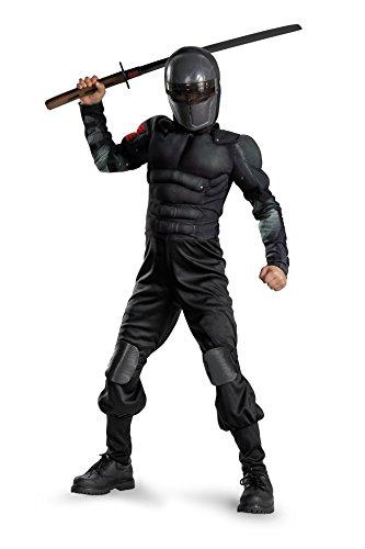 Disguise Costumes G.i. Joe Retaliation Snake Eyes Classic Muscle Costume, Black, Large