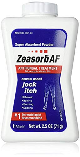 Zeasorb Antifungal Treatment Powder, Jock Itch, 2.5 Ounce (4 Pack)