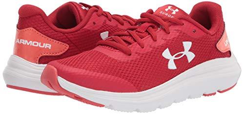 Under Armour Unisex Kids Grade School Surge 2 Road Running Shoe, Fireball White White 603, 3.5 UK